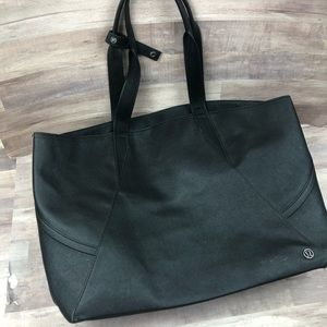 Lululemon Black Tote Gym Bag Yoga Athletic